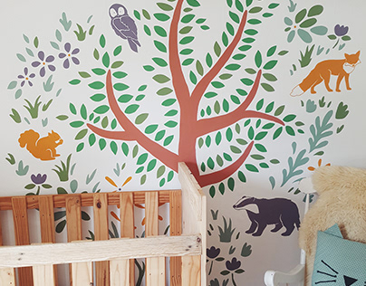 Nursery Nature Wall