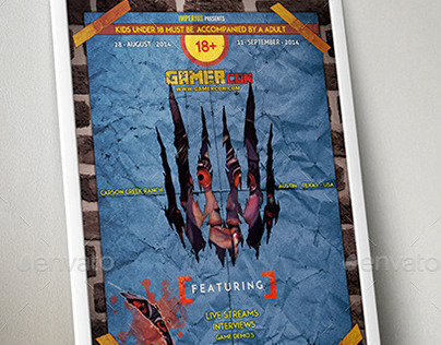 GamerCon - V2 -Flyer Template - Imperius