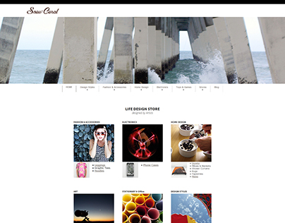 Snow Coral - Website, Store & Product Design