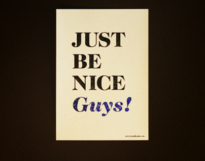 Just Be Nice poster