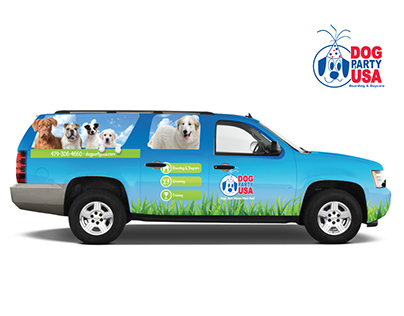 Dog Party Vehicle Wrap