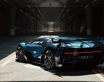 DTLA Bugatti Vision GT Full CGI
