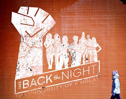 Take Back The Night 2019 University Event Design