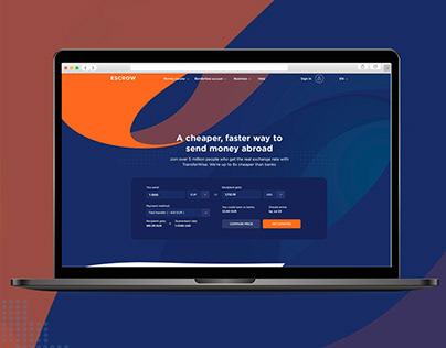 Website Design for a Money Transfer Company