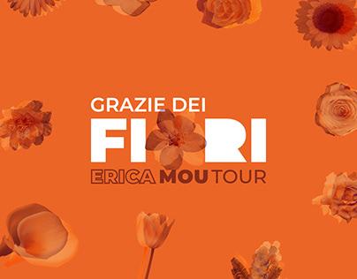 Grazie dei Fiori - Erica Mou Music Tour Graphic Design