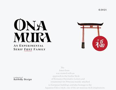 ONAMURA - FREE EXPERIMENTAL FONT