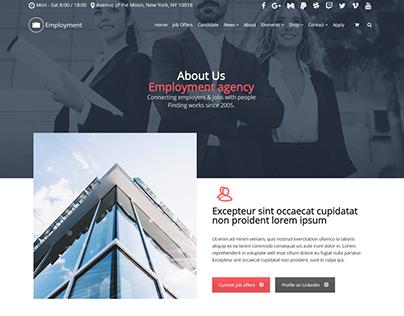 About Page - Employment WordPress Theme