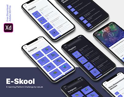 UI/UX/Interaction Design for E-learning Platform