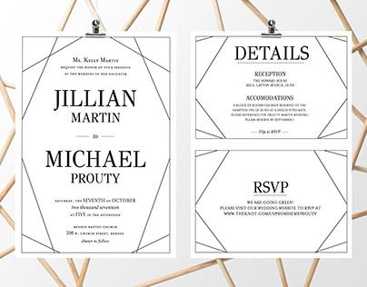 Jillian & Michael Wedding Invite