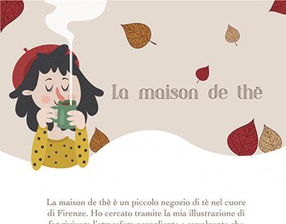 Character for La maison de thè - illustration