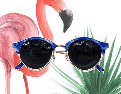 Illustrations of Ray Ban summer collection 2016