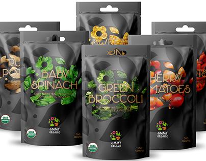 Jimmy Organic Vegetables Packaging