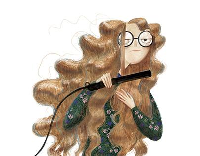 "Children's book illustrations ""Domovychok"""