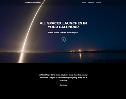 SpaceX Launches Calendar (Landingpage)