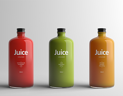 Juice Bottle Packaging Mock-Up
