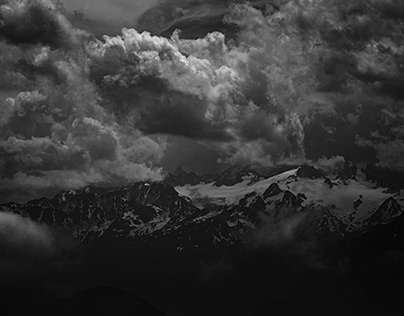mountain and clouds ; cloud and mountains