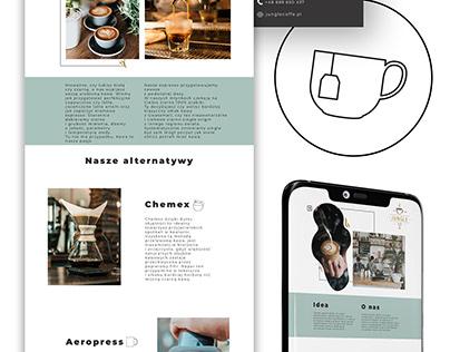 Kawiarnia - strona internetowa