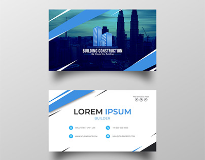 business card for builder company