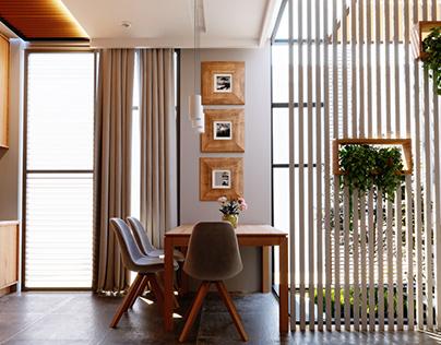 interior design living room & kitchen