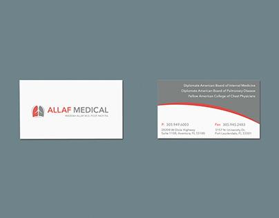 Allaf Medical Logo & Business Card Design