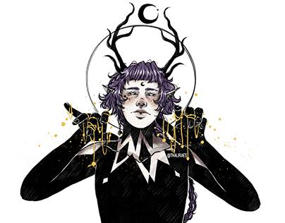 Malai - Half Elf/Deer Original Character [Redraw]