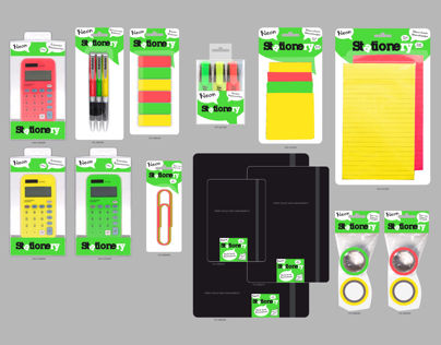 Stationery Neon Logo & Packaging Design