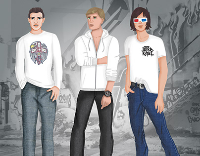 Menswear Illustrations - Fashion