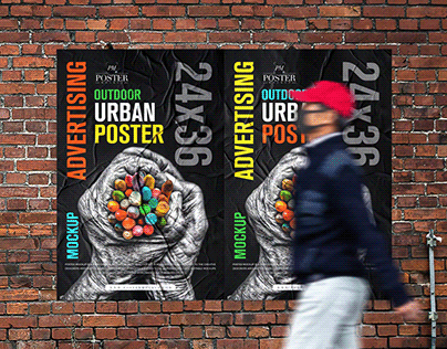 24x36 Urban Poster Mockup Free