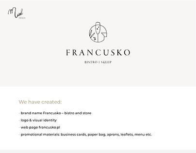 Logo and website for francusko.pl