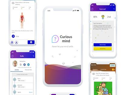 Curious mind : Mobile UI Design