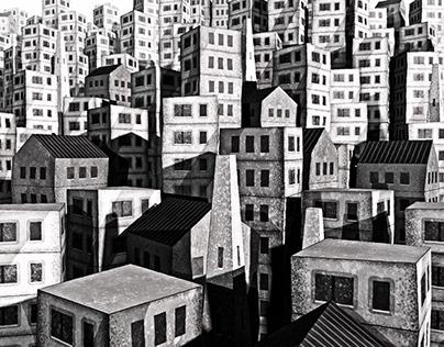 Village on a hill / Styleframes