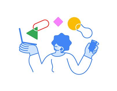 Google Chrome OS — Illustration system