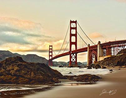 Golden Bridge - HDR photography