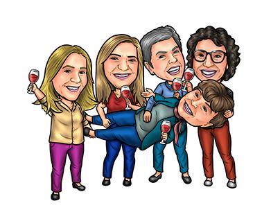 Caricaturas de Grupos | Equipes | Famílias