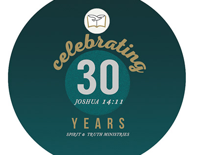 STEM 30th Church Anniversary Button Pin Souvenir