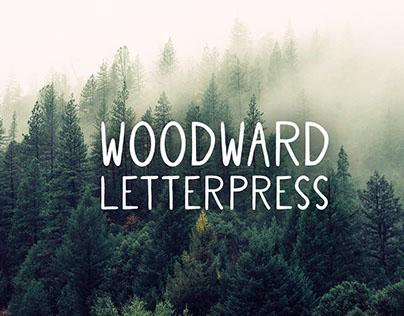 Woodward Letterpress // Hand Drawn Font Design
