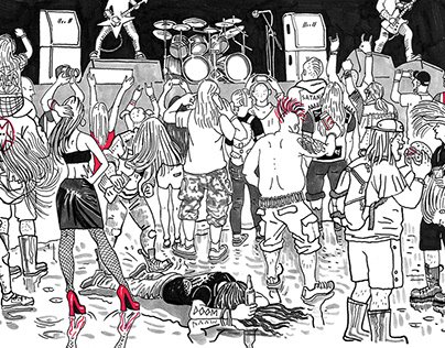 Illustrations for Rockcult webzine
