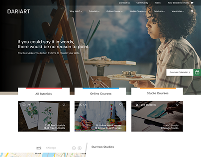 Landing Page for Painting School