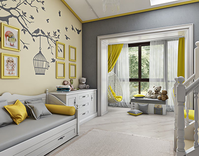 Photorealistic Bedroom 3d Render For Exciting Presentat On Behance