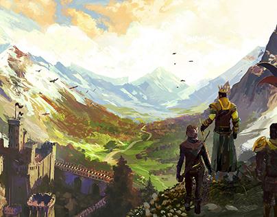 Legends Of Ellaria World. Concept Art for Larkon Studio