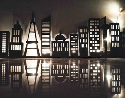 Handmade 3D Skyline Lights