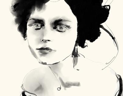 Sketch in black