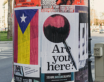 Are you here? — Posters for agitation