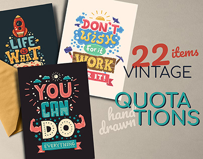 Hand-Drawn Vintage Quotations