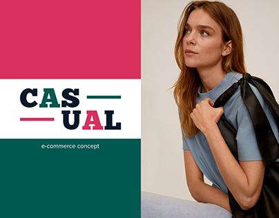 CASUAL — Online Store Concept / E-commerce/ UI/UX case