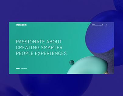 Transcom website UX/UI 2018