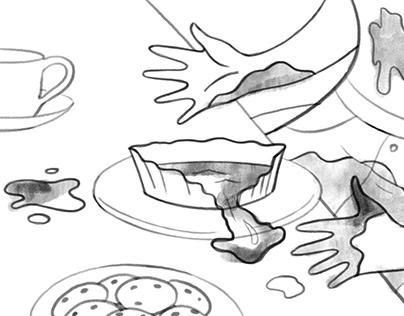 Сartoon storyboard / Раскадровка в мультяшном стиле