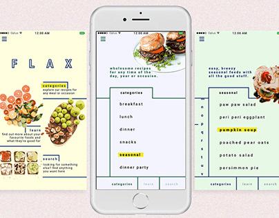 Flax Recipe App