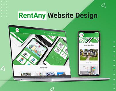 RentAny Apps Wordpress Website