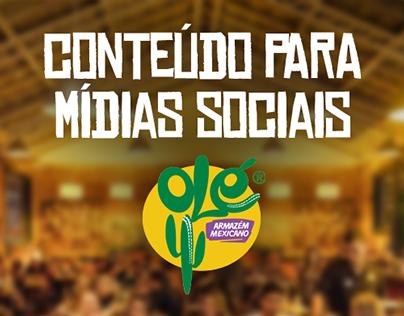 Olé Armazém Mexicano (Conteúdo de Mídias Sociais)